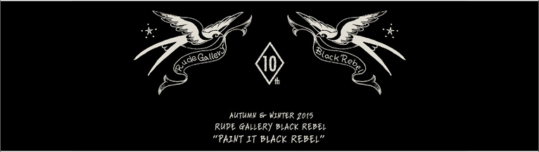 RUDE GALLERY BLACK REBEL 2015 AUTUMN��WINTER COLLECTION